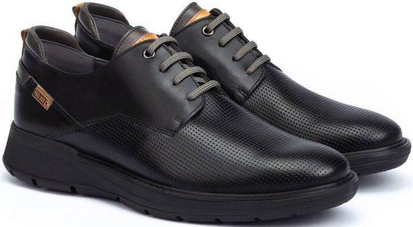 Pikolinos BUSOT M7S-4388 Leather Lace-up Shoe for Men - Black
