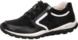 Gabor rollingsoft sensitive 56.964.47 women walking shoes - black