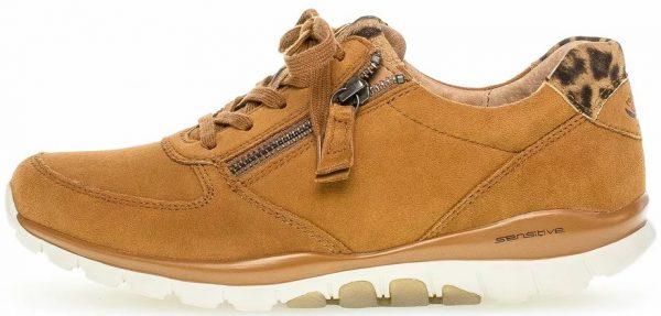 Gabor rollingsoft sensitive 56.968.41 brown  suede walking shoes for women