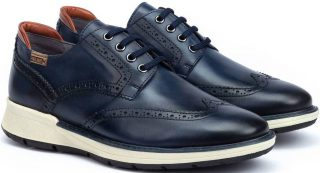 Pikolinos BUSOT M7S-4011 Leather Lace-up Shoe for Men - BLUE