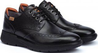 Pikolinos BUSOT M7S-4011 Leather Lace-up Shoe for Men - BLACK