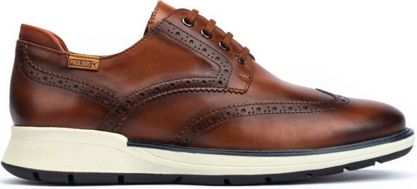 Pikolinos BUSOT M7S-4011 Leather Lace-up Shoe for Men - Brown
