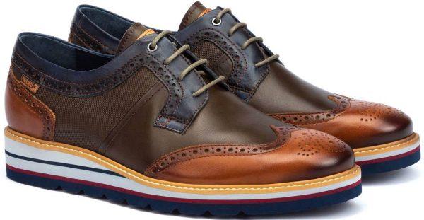Pikolinos DURCAL M8P-4009C1 Leather Lace-up Shoe for Men - Brandy