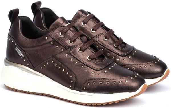 Pikolinos SELLA W6Z-6806CL Leather Sneaker for Women - Brown (Moka)