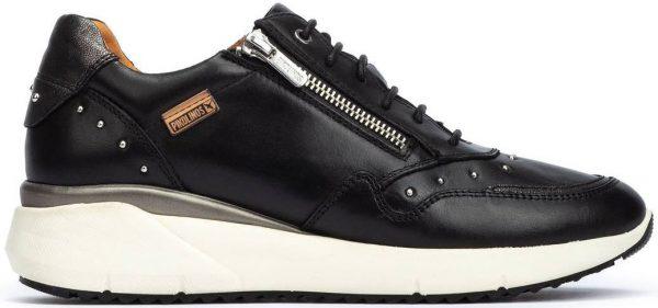 Pikolinos SELLA W6Z-6500 Leather Sneaker for Women - Black