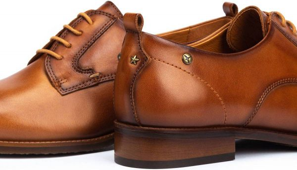 Pikolinos W4D-4723 Leather Lace Shoe for Women - Brandy (Brown)