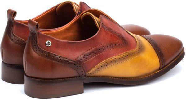 Pikolinos W4D-3510C1 Leather Oxford Shoe for Women - Cuero