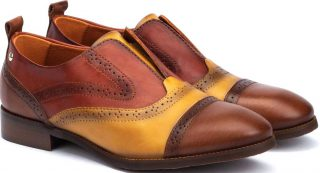 Pikolinos W4D-3510C1 Leather Oxford Shoe for Women - Cuero