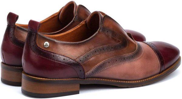 Pikolinos W4D-3510C1 Leather Oxford Shoe for Women - Brown (Garnet)