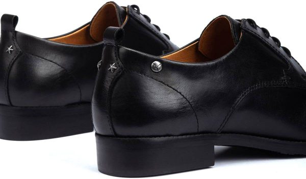 Pikolinos W4D-4723 Leather Lace Shoe for Women - Black