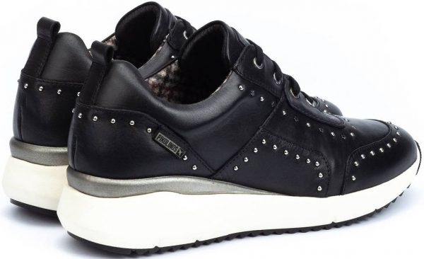 Pikolinos SELLA W6Z-6806 Leather Sneaker for Women - Black