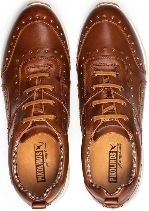 Pikolinos SELLA W6Z-6806 Leather Sneaker for Women - Cuero (brown)