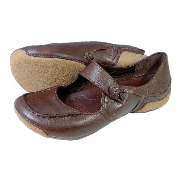 Clarks flat slip-on FUNKY DOO ebony leather