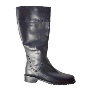 Gabor 92.758.57 black leather long boot for women    LEG WIDTH XLarge
